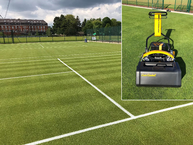 INFINICUT® and UltraGroomer™ double delivers quality courts at The Lensbury Club